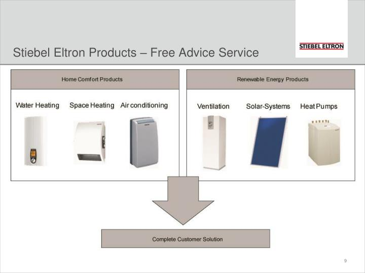 Stiebel Eltron Products – Free Advice Service