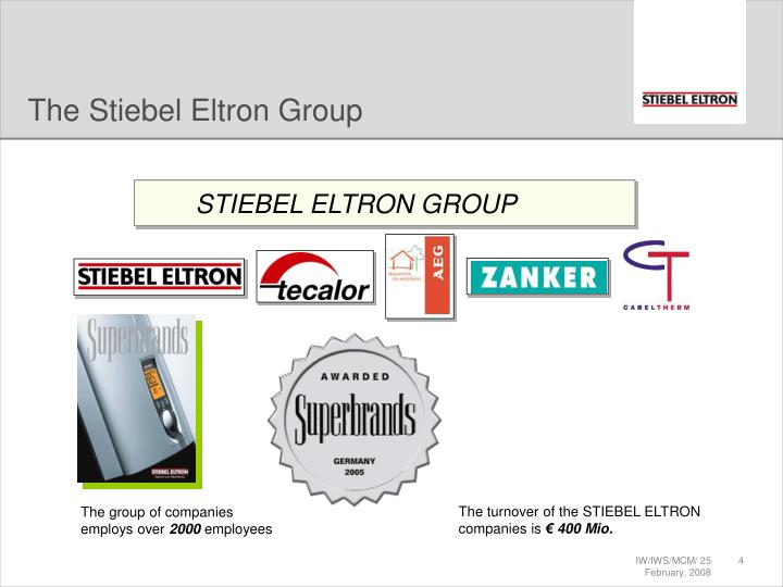 The Stiebel Eltron Group