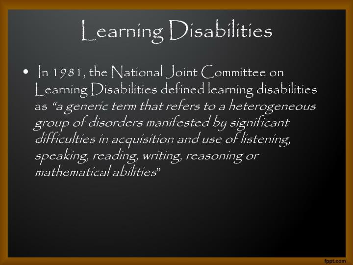 Learning disabilities1