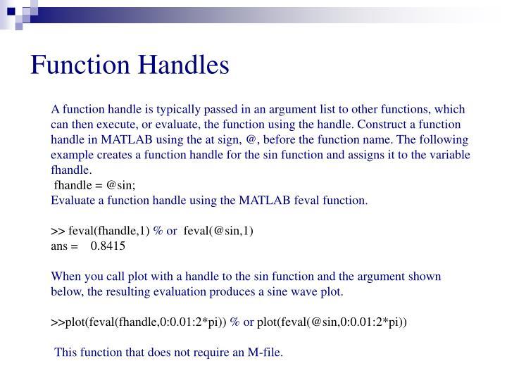 Function Handles