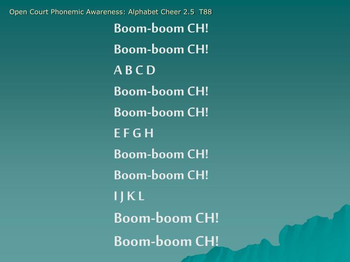 Open Court Phonemic Awareness: Alphabet Cheer 2.5  T88