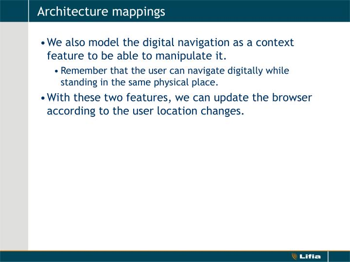 Architecture mappings