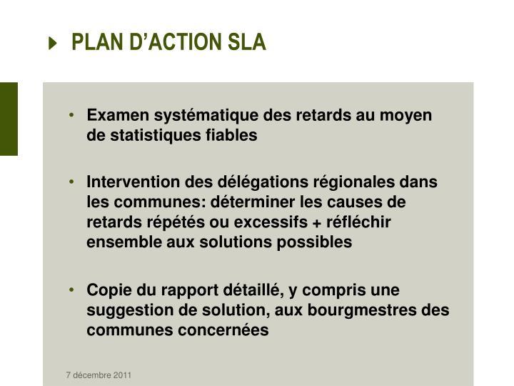 PLAN D'ACTION SLA