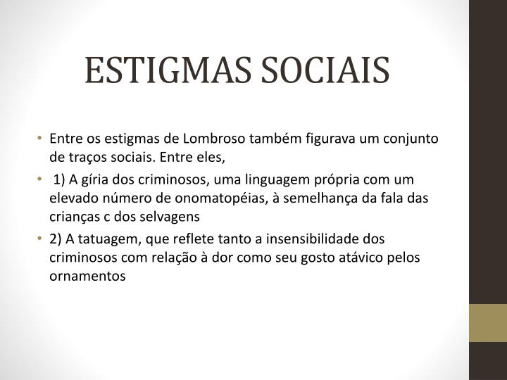 ESTIGMAS SOCIAIS