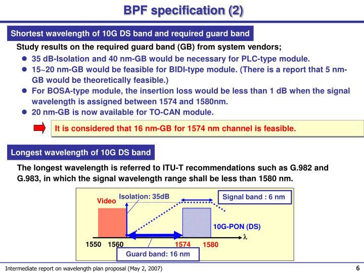 BPF specification (2)
