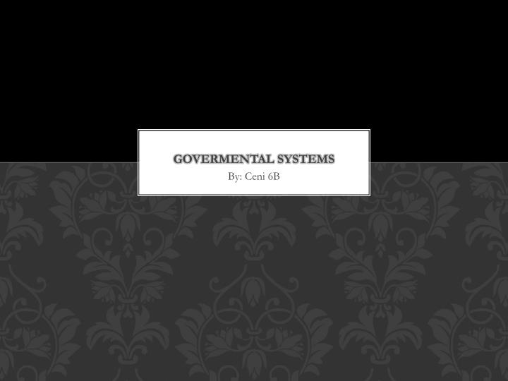 Govermental systems