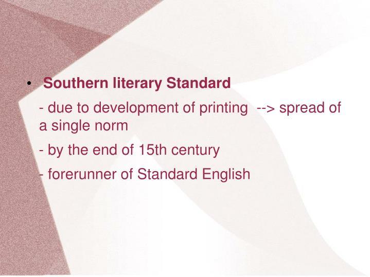Southern literary Standard
