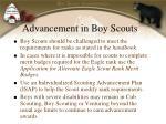 advancement in boy scouts