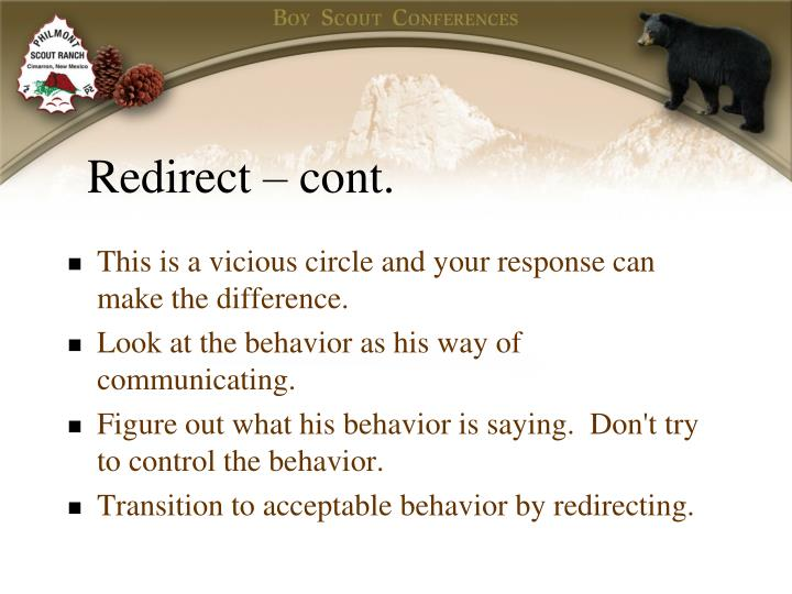Redirect – cont.