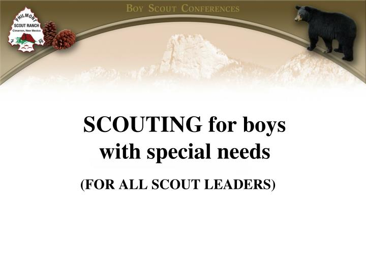 Scouting for boys with special needs