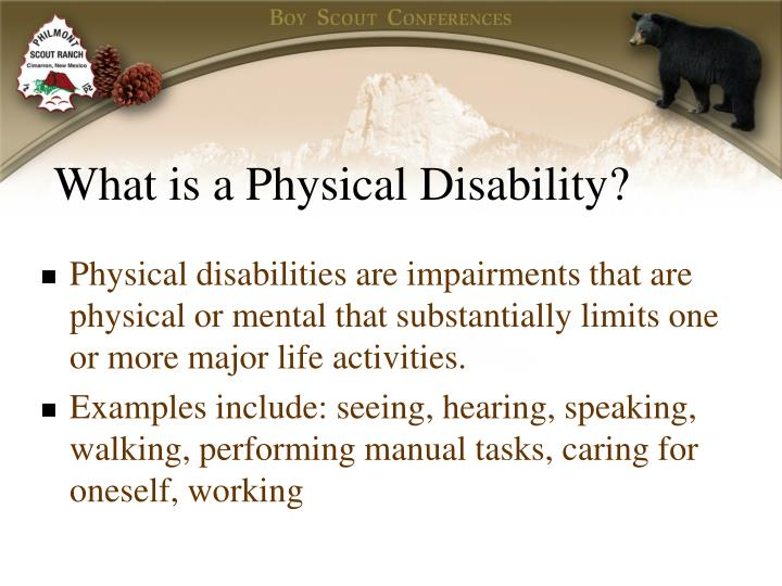 What is a Physical Disability?