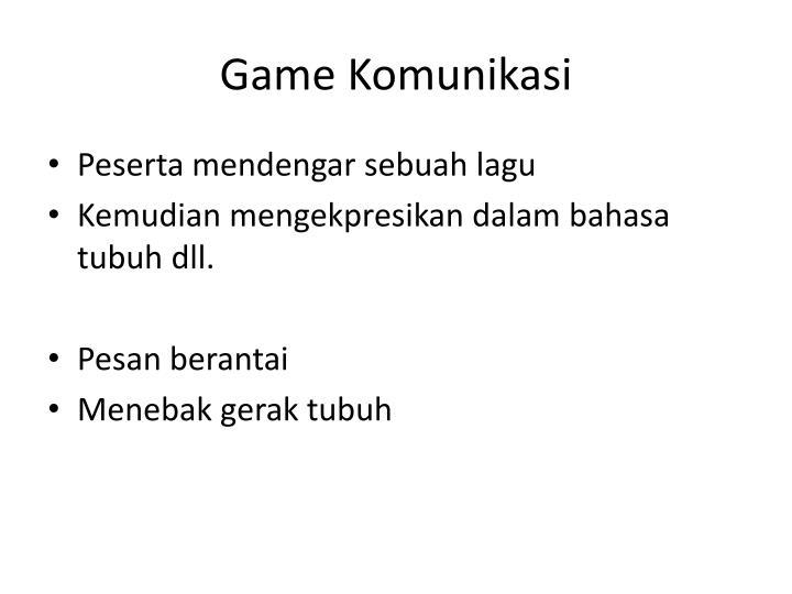 Game Komunikasi