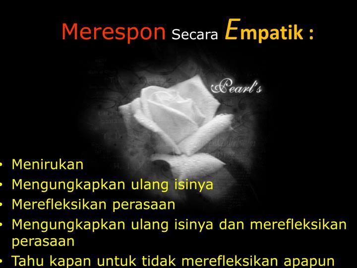 Merespon