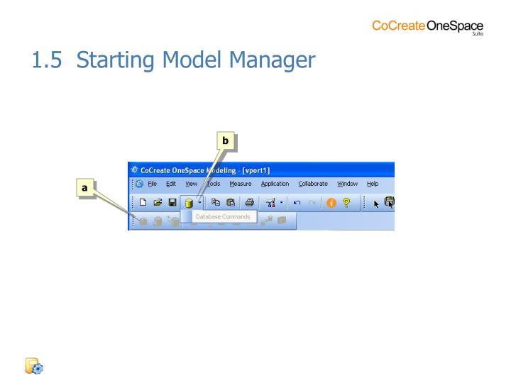 1.5  Starting Model Manager