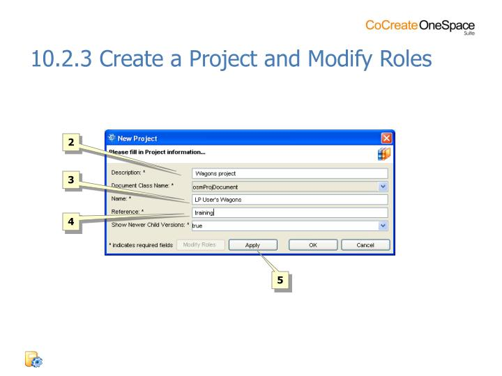 10.2.3 Create a Project and Modify Roles