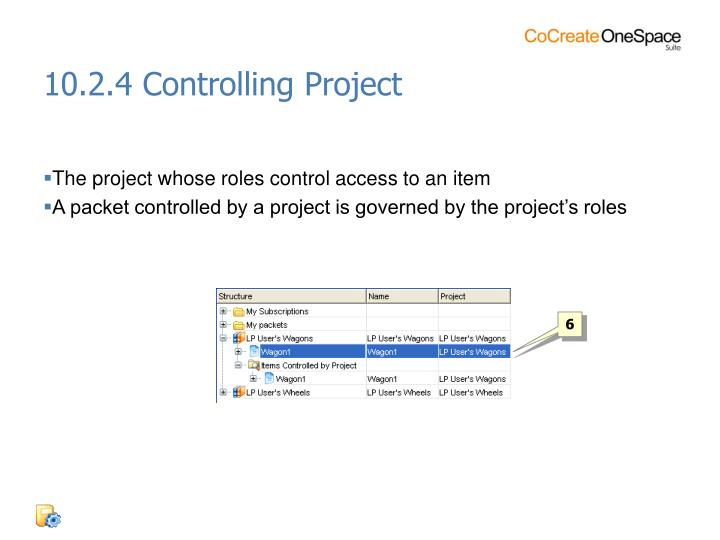 10.2.4 Controlling Project