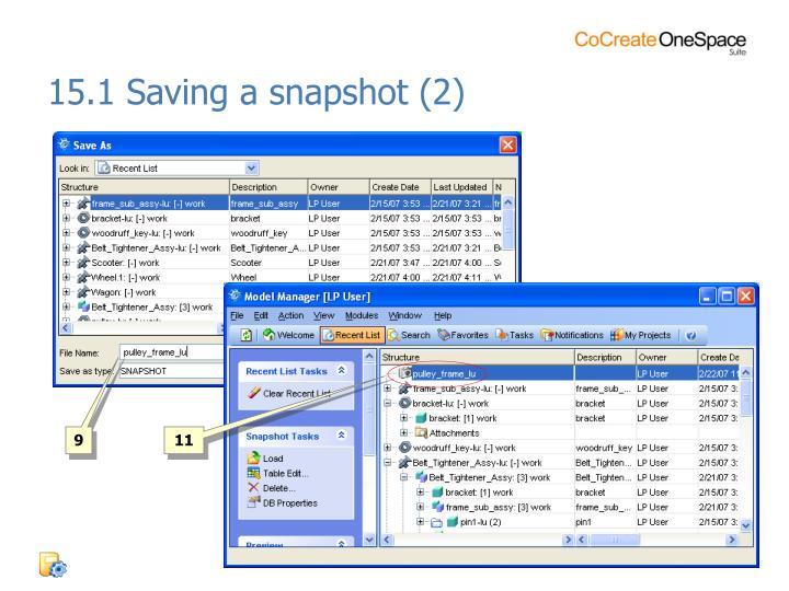 15.1 Saving a snapshot (2)
