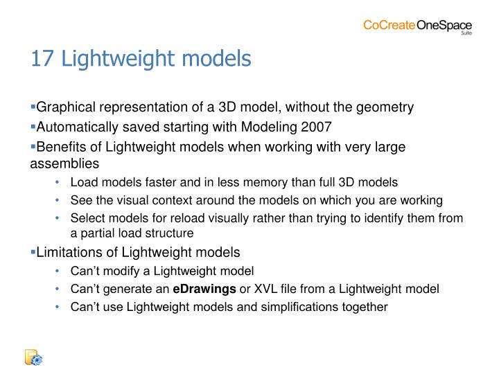 17 Lightweight models
