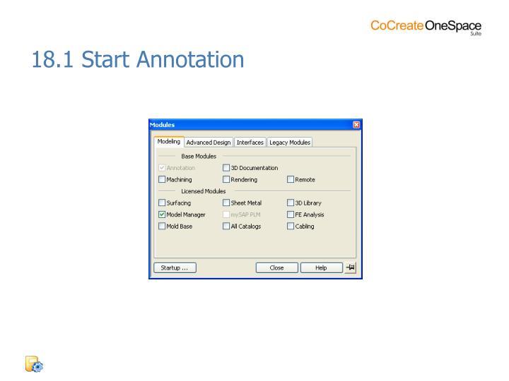 18.1 Start Annotation