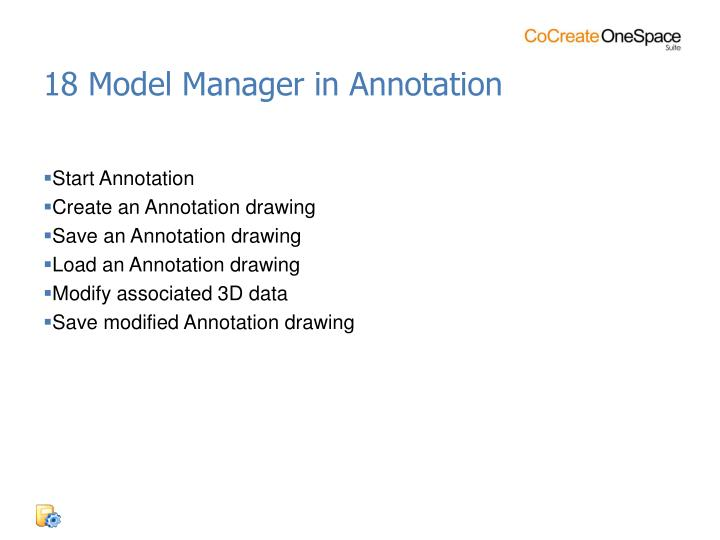 18 Model Manager in Annotation