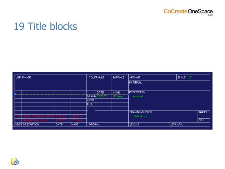 19 Title blocks