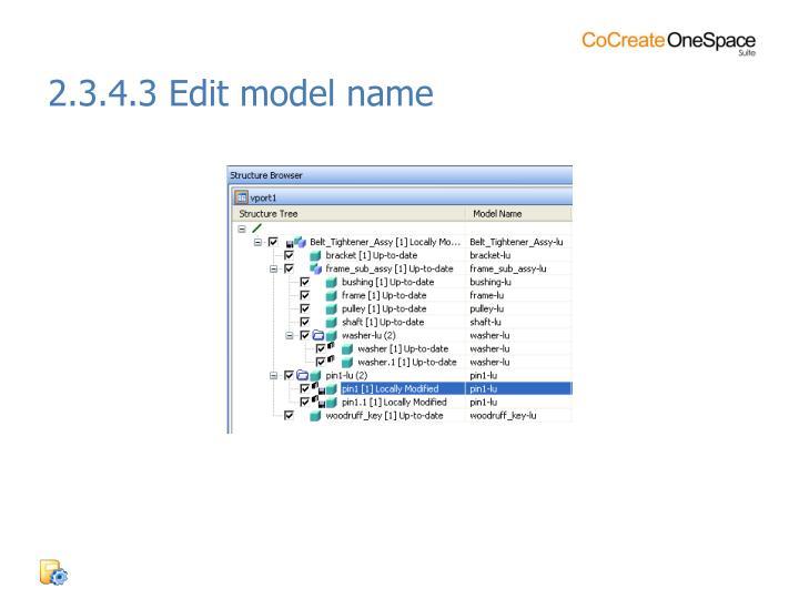 2.3.4.3 Edit model name