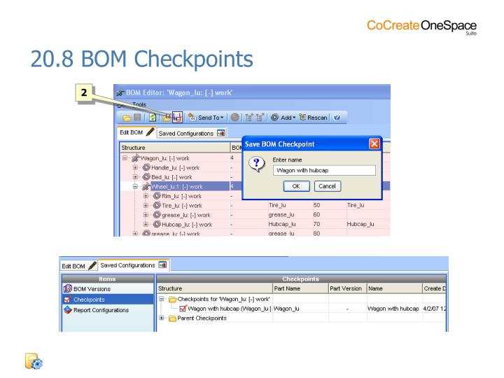 20.8 BOM Checkpoints