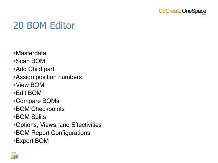 20 BOM Editor