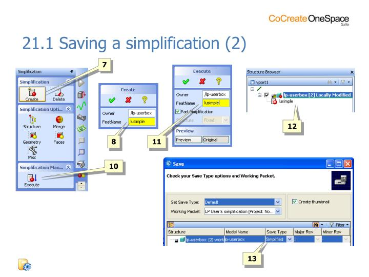 21.1 Saving a simplification (2)