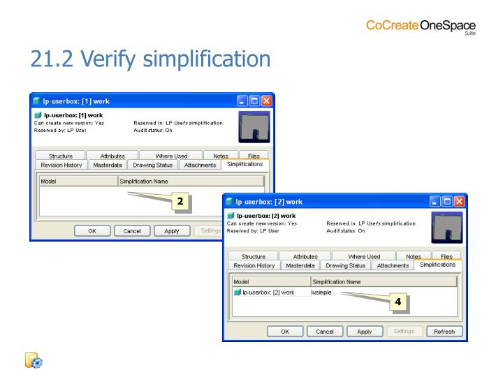 21.2 Verify simplification