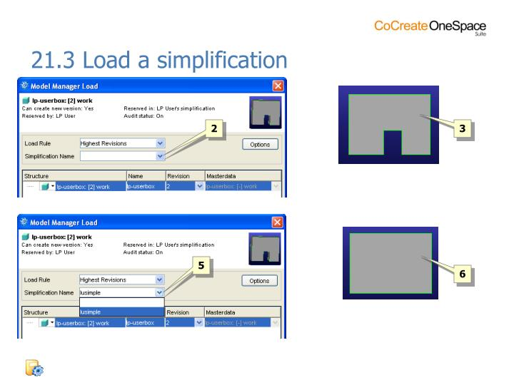 21.3 Load a simplification