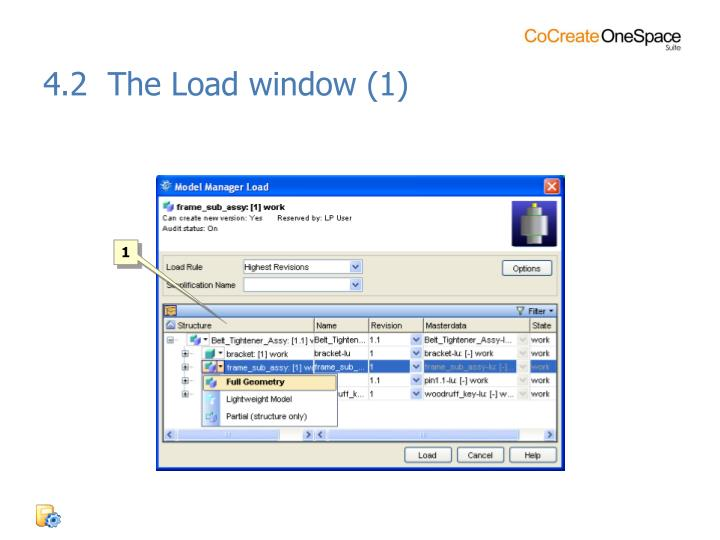 4.2  The Load window (1)