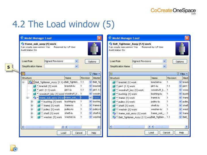 4.2 The Load window (5)