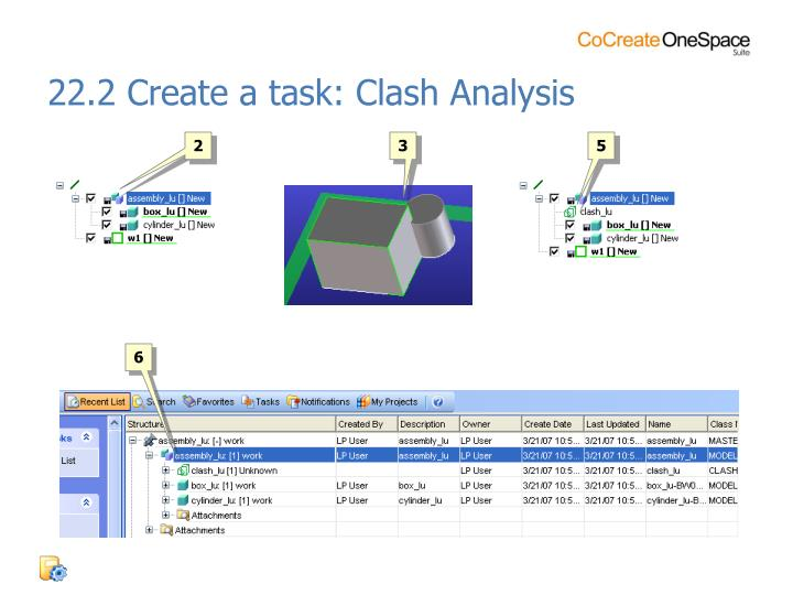 22.2 Create a task: Clash Analysis