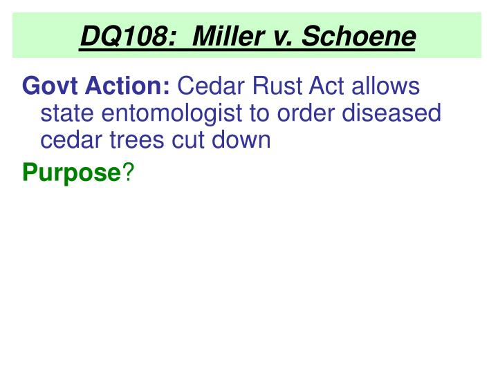 DQ108:  Miller v. Schoene