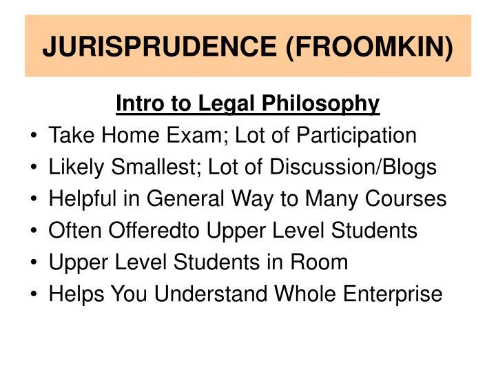 JURISPRUDENCE (FROOMKIN)