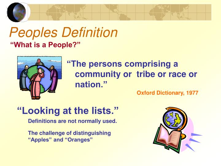 Peoples Definition