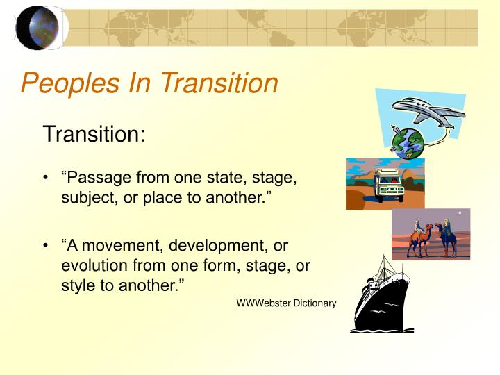 Peoples In Transition