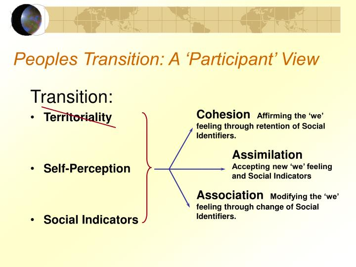 Peoples Transition: A 'Participant' View