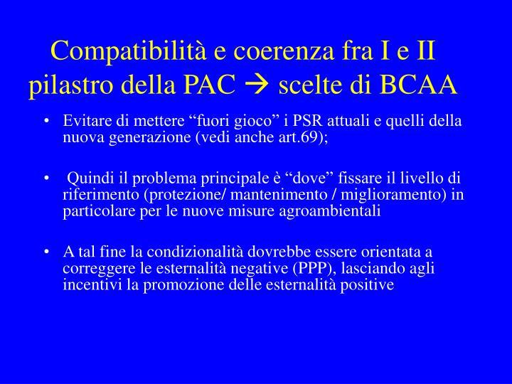 Compatibilità e coerenza fra I e II pilastro della PAC