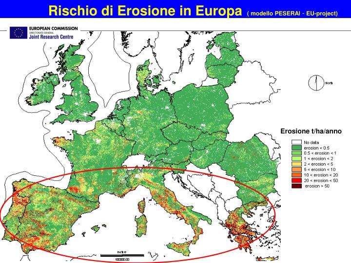 Rischio di Erosione in Europa
