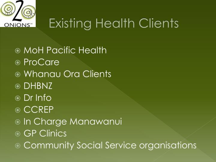 Existing Health Clients
