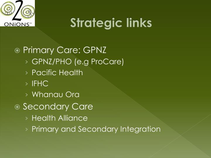Strategic links