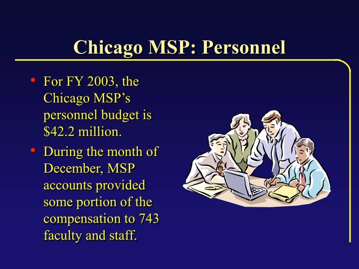 Chicago MSP: Personnel
