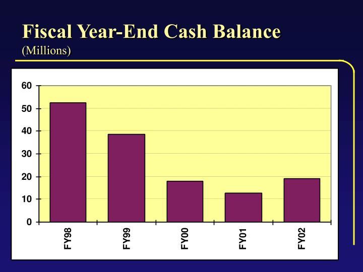 Fiscal Year-End Cash Balance