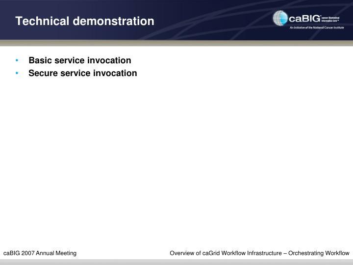 Technical demonstration