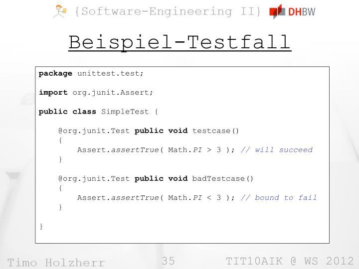 Beispiel-Testfall