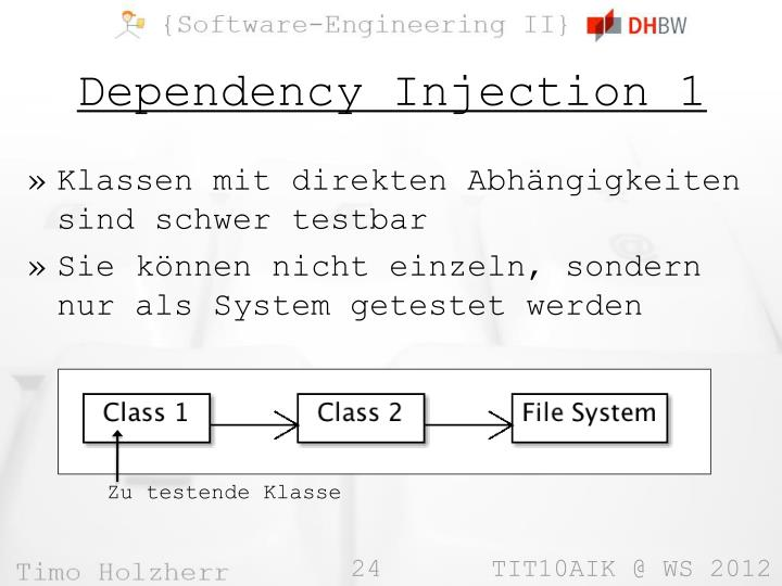 Dependency Injection 1