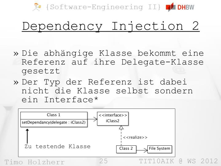 Dependency Injection 2