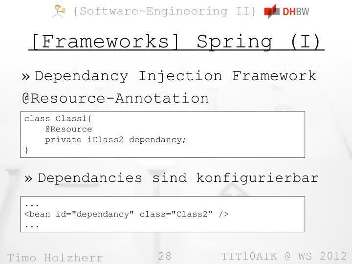 [Frameworks] Spring (I)